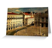 Lisbon....Town Hall square Greeting Card