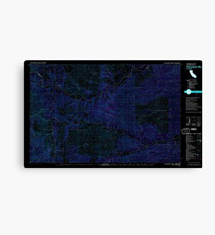 USGS TOPO Map California CA Chickabally Mtn 299062 1981 25000 geo Inverted Canvas Print