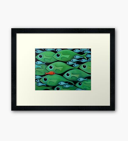 Green Fish 1 Framed Print