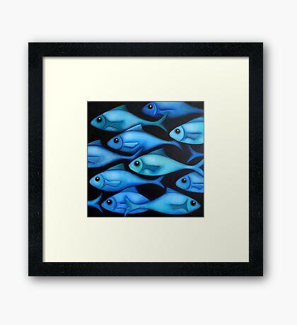 Blue Fish 1 Framed Print