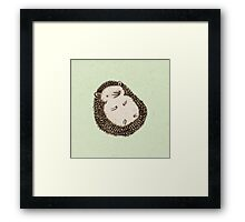 Plump Hedgehog Framed Print