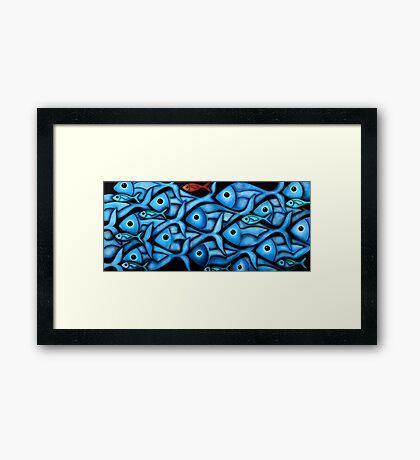 Blue Fish 2 Framed Print