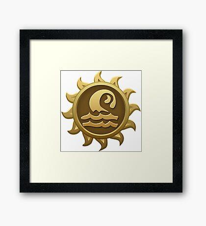 Glitch Giants emblem grendaline Framed Print