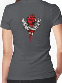 Zombie Revolution! -red- Women's Fitted V-Neck T-Shirt
