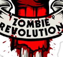 Zombie Revolution! -red- Sticker