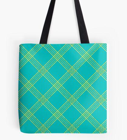 Interlocking Aquamarine pattern Tote Bag