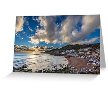 Steephill Cove Cloudscape Greeting Card
