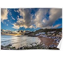 Steephill Cove Cloudscape Poster