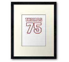 NFL Player Robert Thomas seventyfive 75 Framed Print