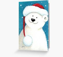 Festive Polar Bear Greeting Card