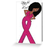 African American Breast Cancer Card Dark Skin Greeting Card