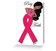 African American Breast Cancer Cards and Matching T-shirts Greeting Card