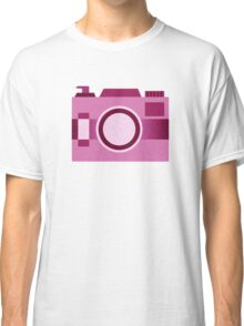 Retro Old-Time Camera, Pink Classic T-Shirt