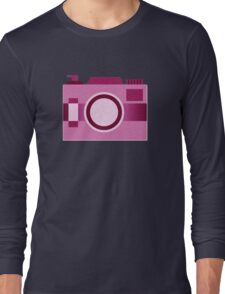 Retro Old-Time Camera, Pink Long Sleeve T-Shirt