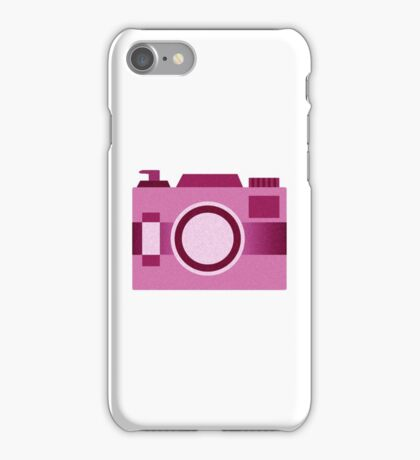 Retro Old-Time Camera, Pink iPhone Case/Skin