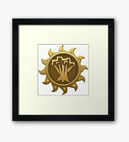 Glitch Giants emblem spriggan Framed Print