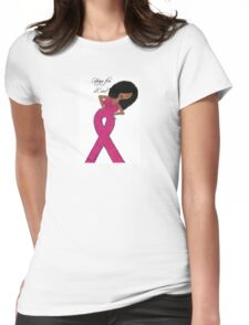 African American Breast Cancer T-shirts Womens Fitted T-Shirt