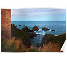 North Sea, Cruden Bay - From Slains Castle - North East coast of Aberdeenshire, Scotland Poster
