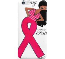 African American Breast Cancer T-shirts iPhone Case/Skin