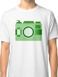 Retro Old-Time Camera, Green Classic T-Shirt