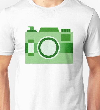 Retro Old-Time Camera, Green Unisex T-Shirt