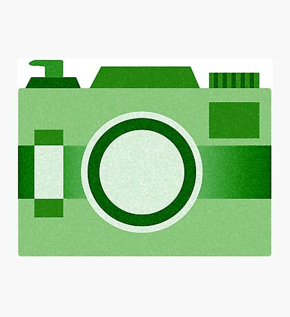 Retro Old-Time Camera, Green Photographic Print