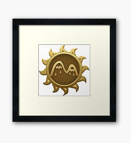 Glitch Giants emblem zille Framed Print