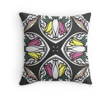 Tulips Kaleidoscope Print Throw Pillow