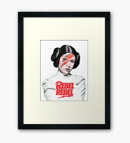 Princess Leia - Carrie Fisher - Star Wars Framed Print