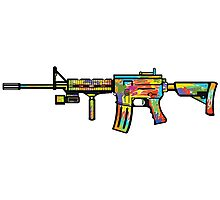 AR-15 Expression Photographic Print
