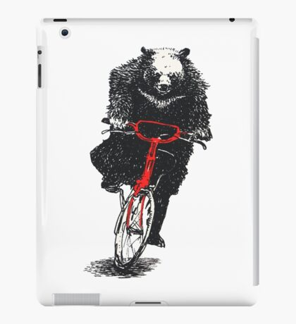 bears riding bicycles iPad Case/Skin