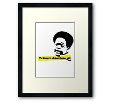 The Internet is all about illusions, girl! Framed Print