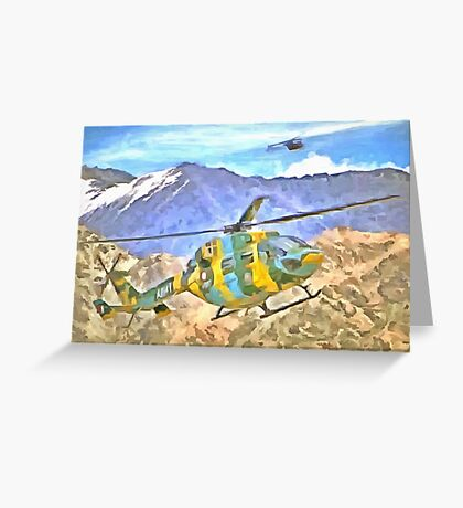 Helicopter coming and going Greeting Card
