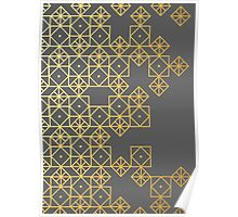 Geometric Gold Poster