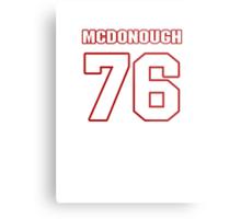 NFL Player Jake McDonough seventysix 76 Metal Print