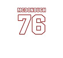 NFL Player Jake McDonough seventysix 76 Photographic Print