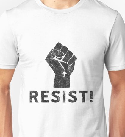 Resist Fist with Exclamation Point Unisex T-Shirt