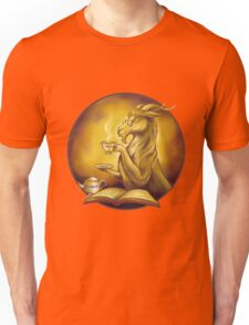 goat reading a book and drinking tea Unisex T-Shirt