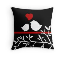Two Little Tweets Print Throw Pillow