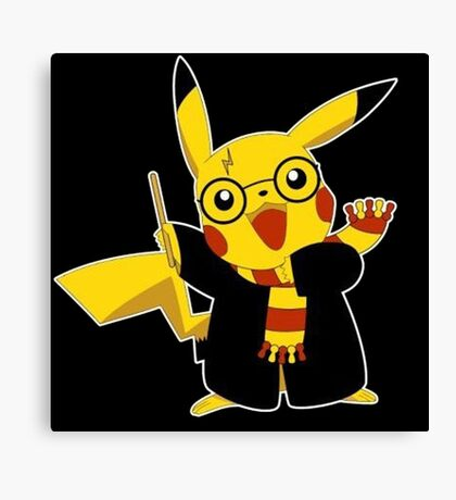 Pikachu Harry Potter Pokemon Canvas Print