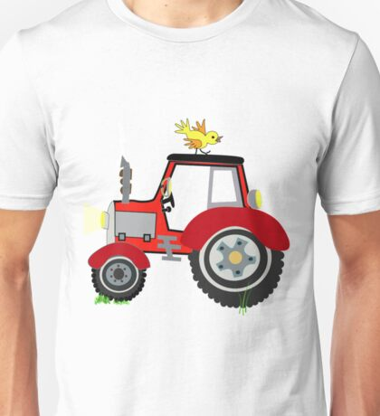 Farm Animals Funny Tractor Shirt Unisex T-Shirt