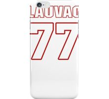 NFL Player Shawn Lauvao seventyseven 77 iPhone Case/Skin