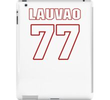 NFL Player Shawn Lauvao seventyseven 77 iPad Case/Skin