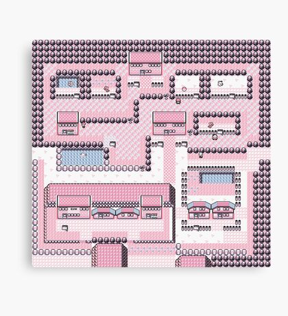 PkMn - Fuchsia City Full Graphic Tee Canvas Print