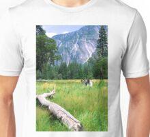 Yosemite Valley from valley floor Unisex T-Shirt