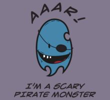 I'M A SCARY PIRATE MONSTER Kids Tee