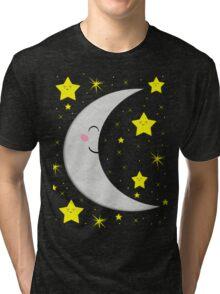 Sleeping Paper Moon + Stars Tri-blend T-Shirt