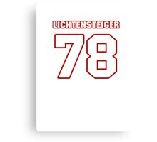 NFL Player Kory Lichtensteiger seventyeight 78 Canvas Print