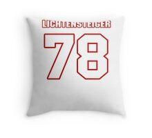 NFL Player Kory Lichtensteiger seventyeight 78 Throw Pillow
