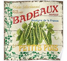French Veggie Label 1 Poster